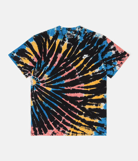 Nike Tie-Dye T-Shirt - Black / Bright Crimson / White