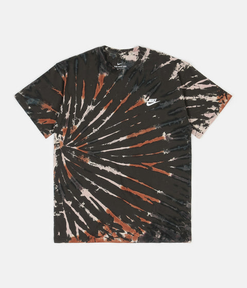 Nike Tie-Dye T-Shirt - Sequoia / Light Bone / White