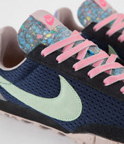 Nike Waffle Racer Shoes - Midnight Navy / Vapor Green - Black