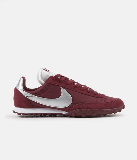 Nike Waffle Racer Shoes - Team Red / Metallic Silver - White