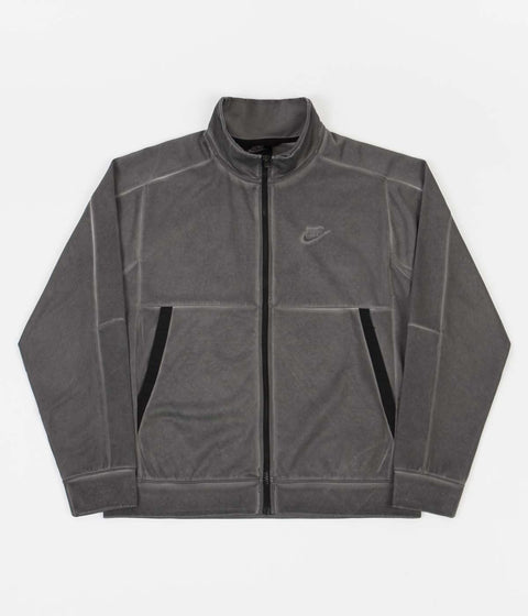 Nike Wash Revival Jersey Jacket - Black / Black