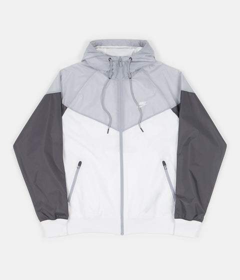 Nike Windrunner Jacket - White / Wolf Grey / Dark Grey / White