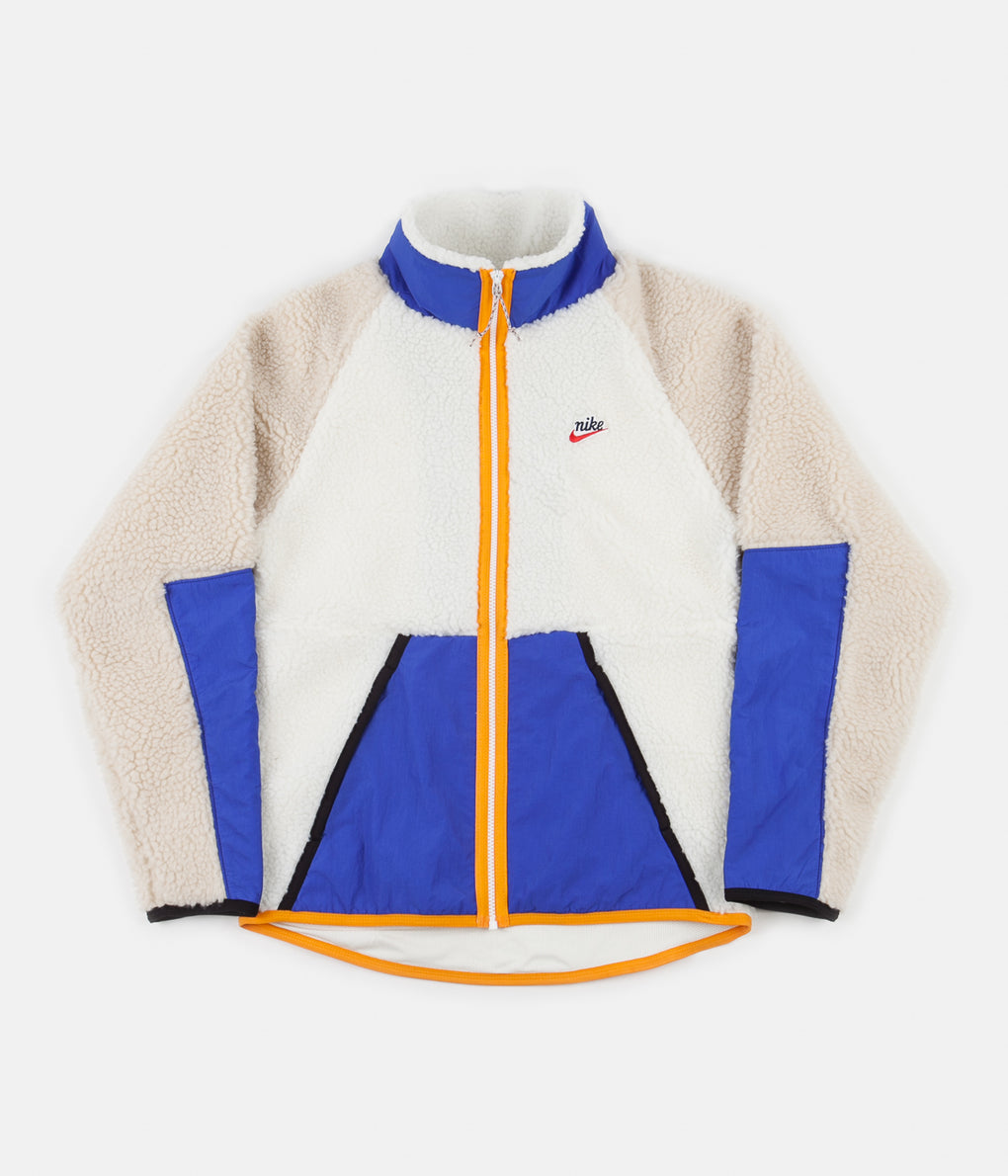 Nike Winter Fleece Jacket - Sail / Game Royal / Desert Sand