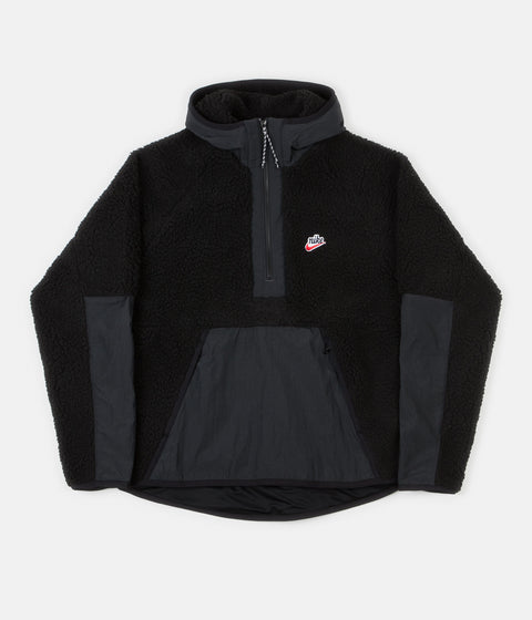 Nike Winter Half Zip Hoodie - Black / Off Noir