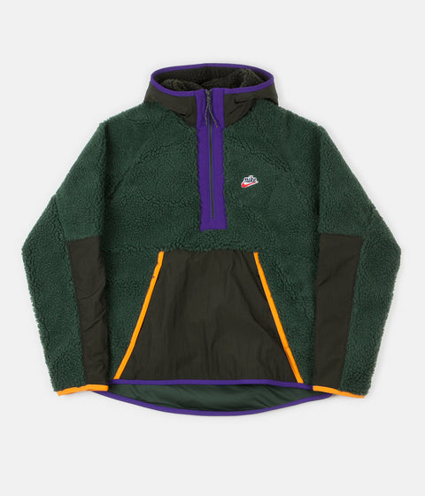 Nike Winter Half Zip Hoodie - Galactic Jade / Sequoia / Kumquat