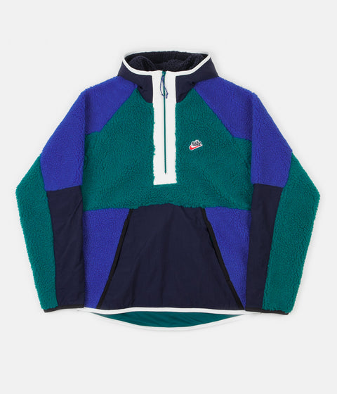 Nike Winter Half Zip Hoodie - Geode Teal / Obsidian / Game Royal