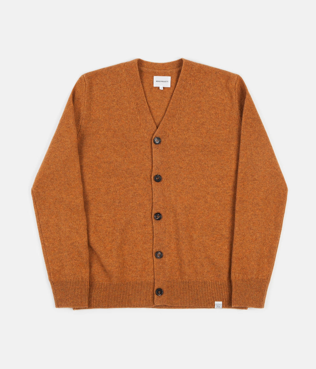 Norse Projects Adam Lambswool Cardigan - Montpellier Yellow