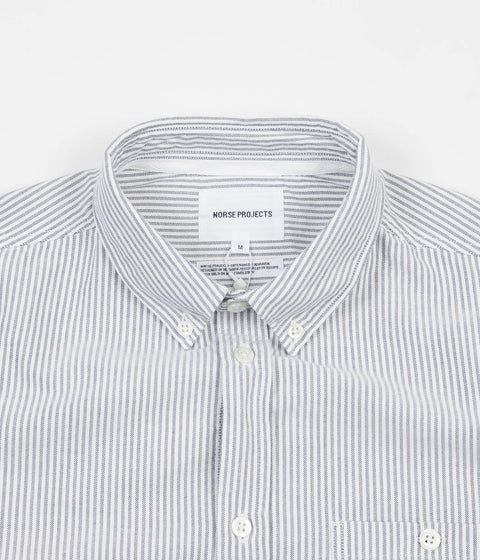 Norse Projects Anton Oxford Shirt - Dark Navy Fine Stripe