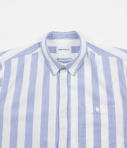 Norse Projects Anton Oxford Shirt - Pale Blue Wide Stripe