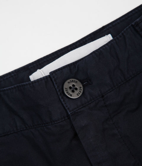 Norse Projects Aros Light Twill Pants - Dark Navy