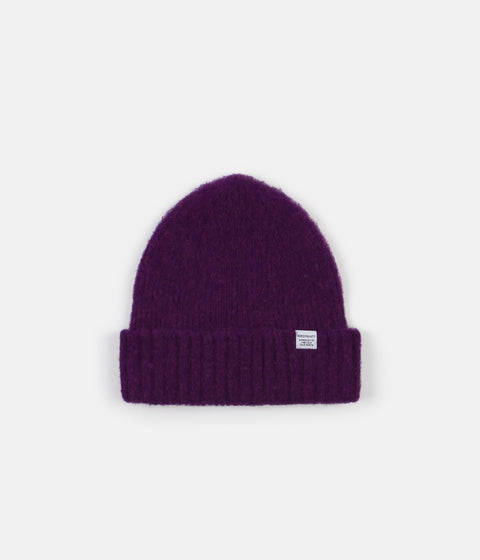 Norse Projects Brushed Lambswool Beanie - Ritteri Purple