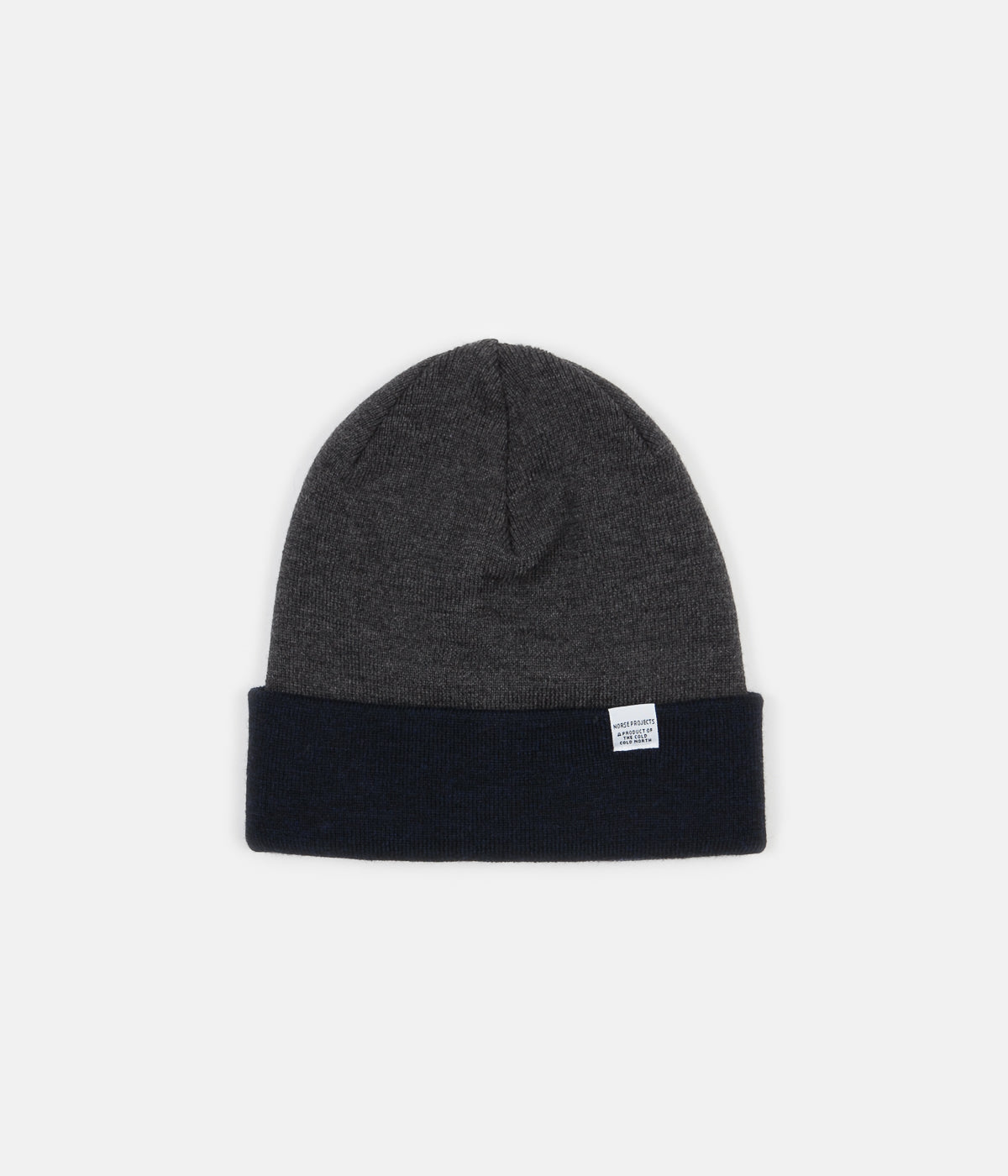 Norse Projects Colour Block Beanie - Dark Navy  38b89063a63