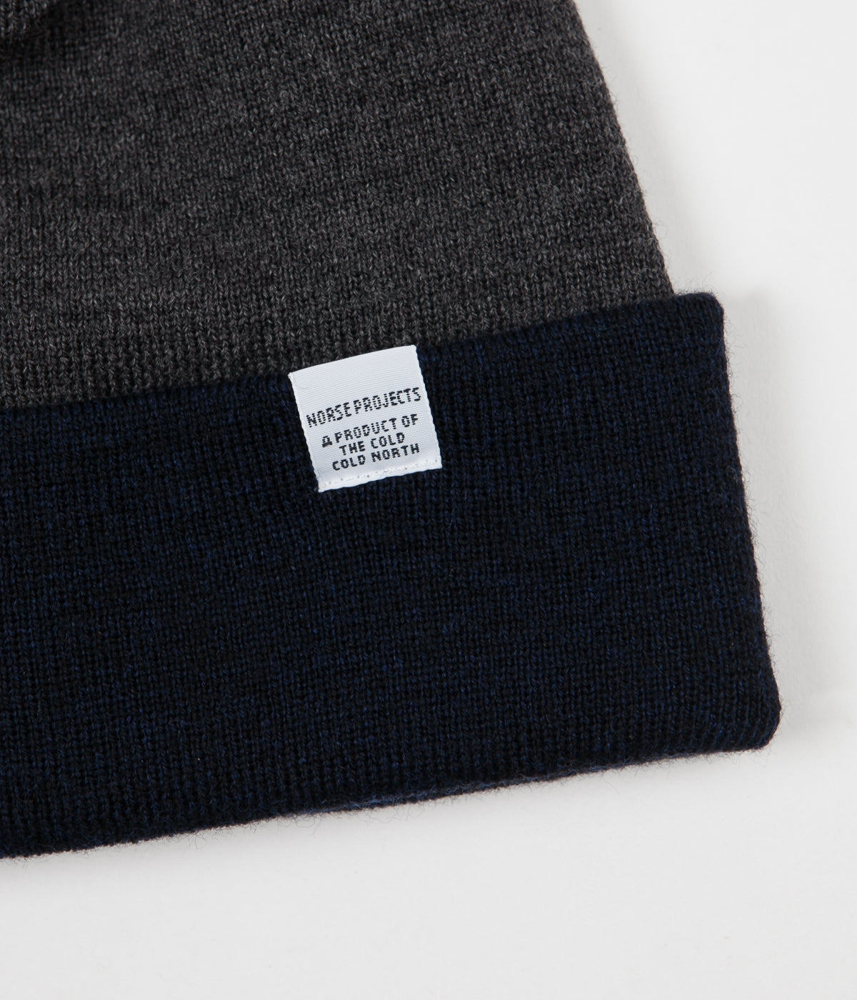 b604e08f21808 Norse Projects Colour Block Beanie - Dark Navy ...