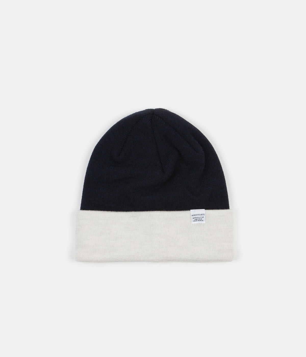 25fec1a9123 Norse Projects Colour Block Beanie - Ecru