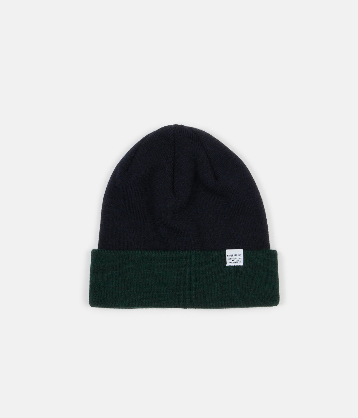 Norse Projects Colour Block Beanie - Spinnaker Green  62c9ed7ee45