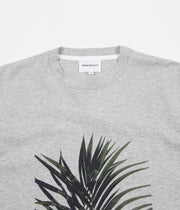 Norse Projects James Palm Print T-Shirt - Light Grey Melange