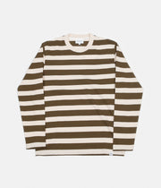 Norse Projects Johannes Rugby Stripe Long Sleeve T-Shirt - Sitka Green