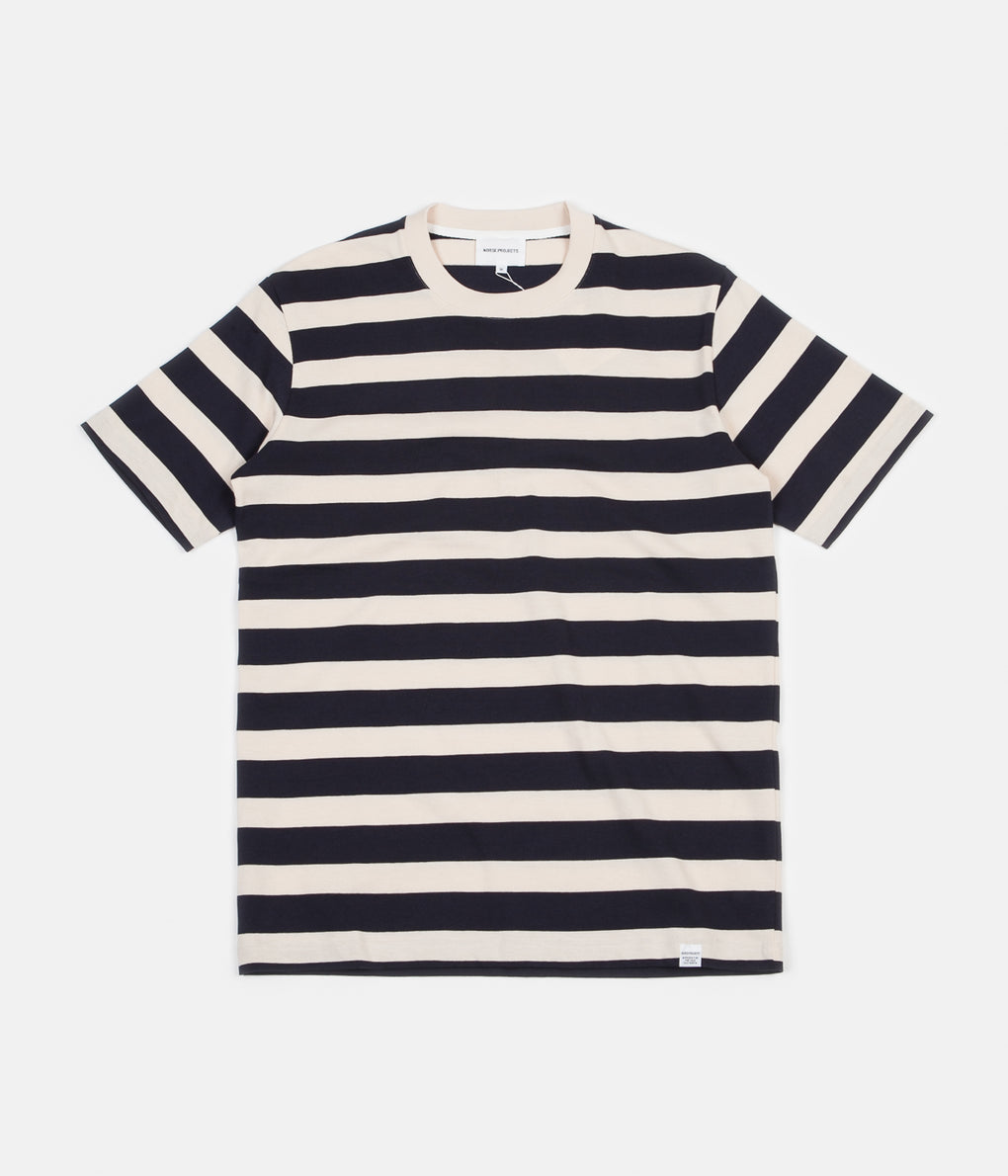 Norse Projects Johannes Rugby Stripe T-Shirt - Navy