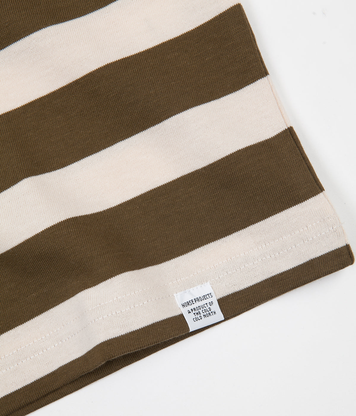 7e10ad0ffc Norse Projects Johannes Rugby Stripe T-Shirt - Sitka Green | Always ...