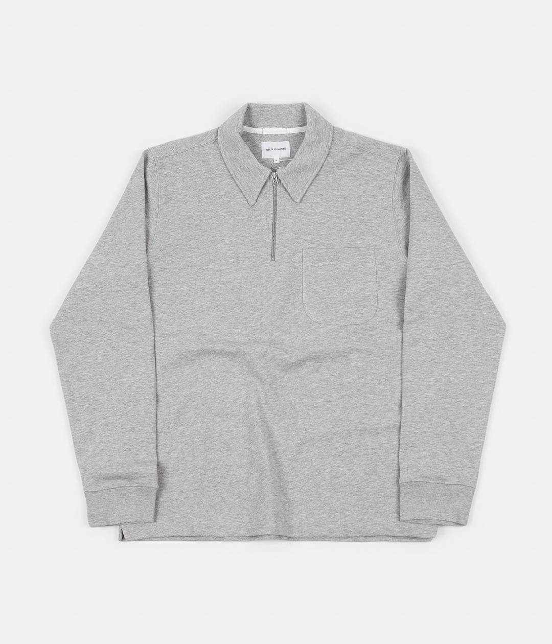 Norse Projects Jorn Half Zip Sweatshirt Light Grey Melange