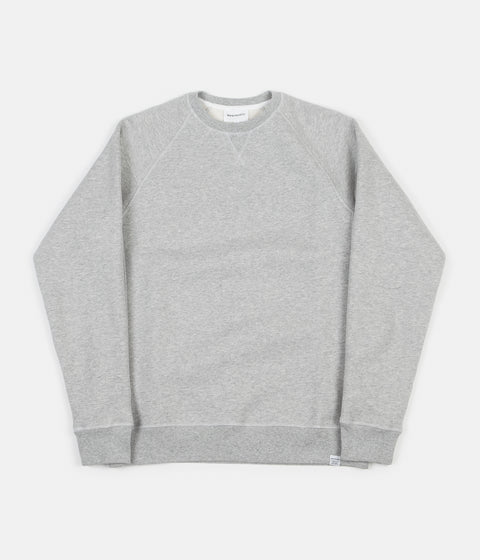 5f48971e6b4 Norse Projects Ketel Classic Crewneck Sweatshirt - Light Grey Melange