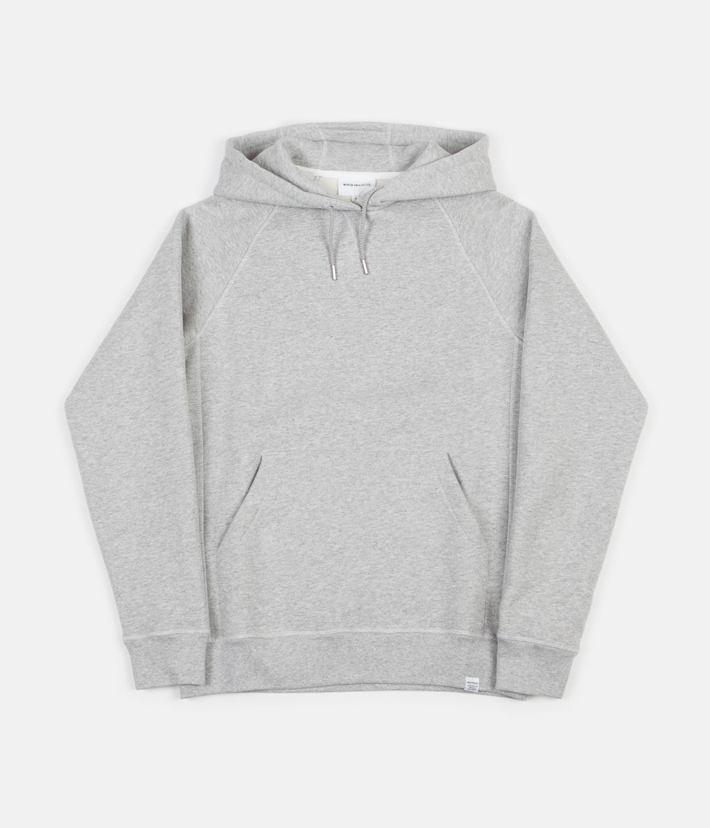Norse Projects Ketel Classic Hoodie - Light Grey Melange