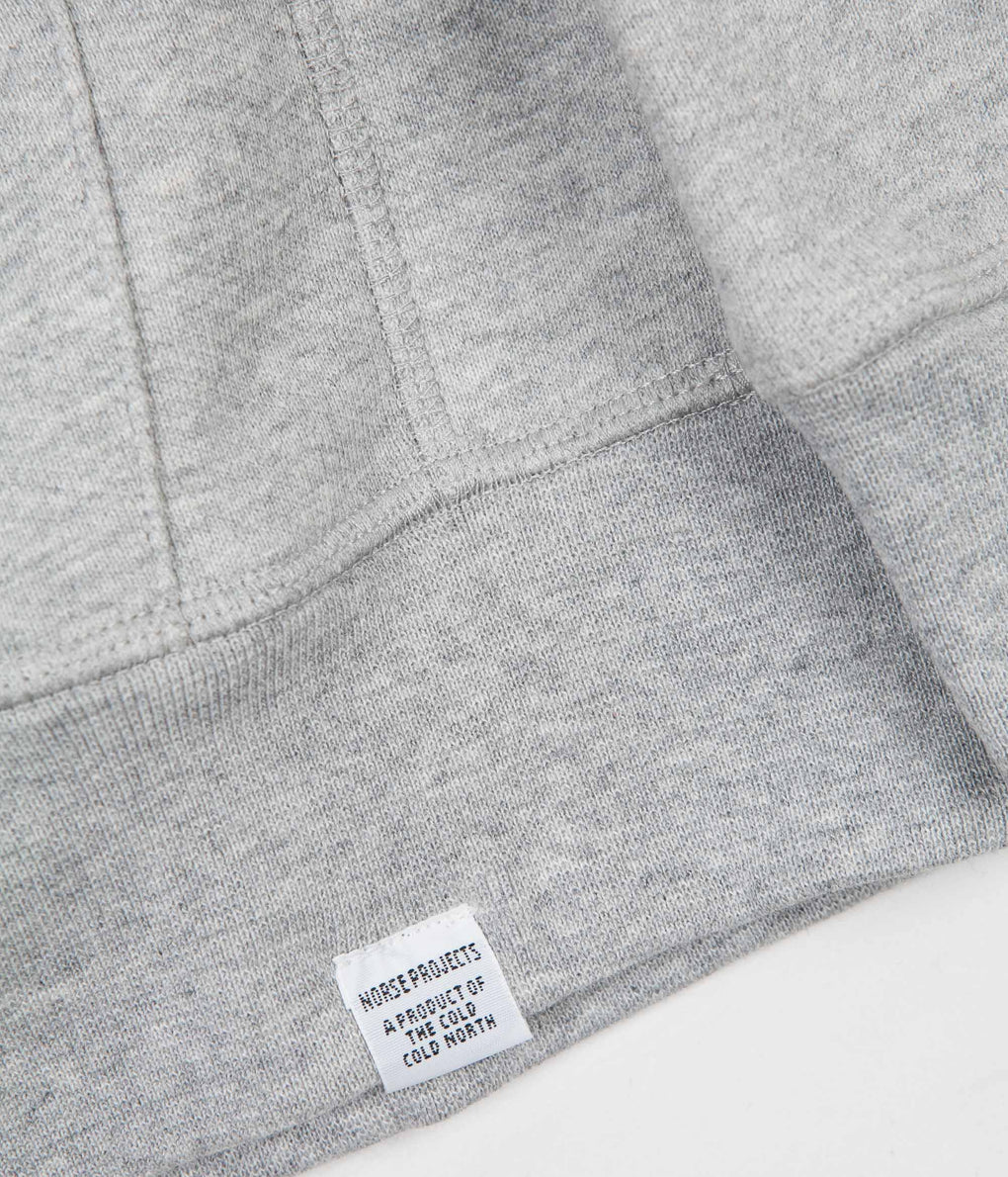 Norse Projects Ketel Summer Classic Hoodie - Light Grey Melange