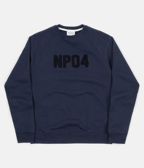 Norse Projects Ketel Classic Towelling Logo Crewneck Sweatshirt - Dark Navy