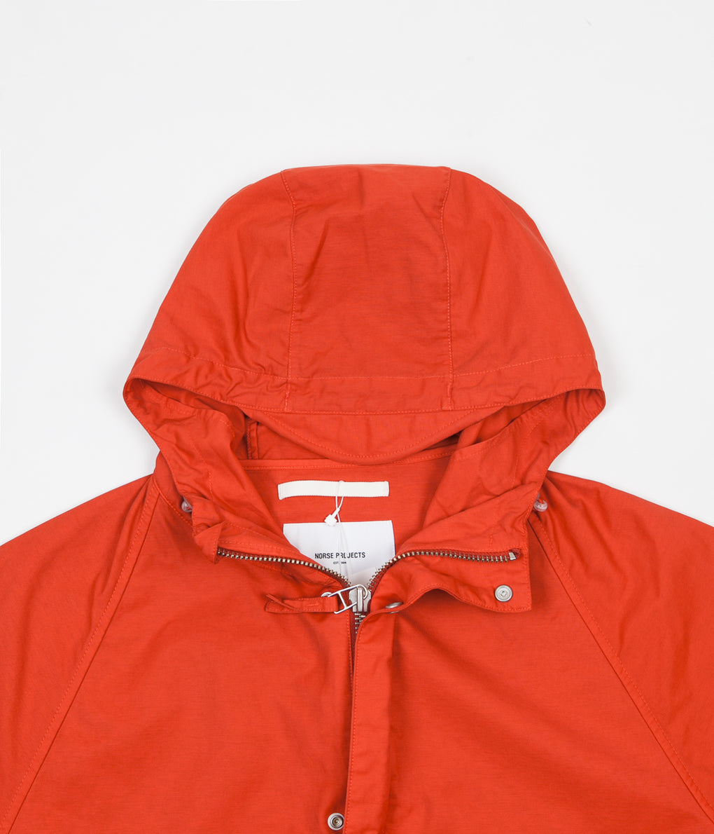 Norse Projects Lindisfarne GMD Nylon Jacket - Coral Red