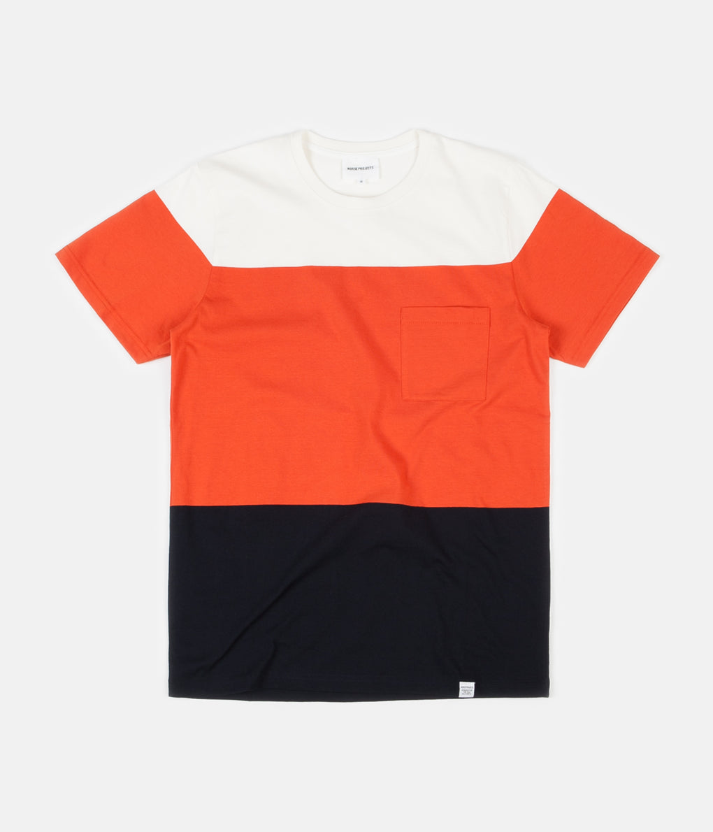Norse Projects Niels Colour Block T-Shirt - Dark Navy