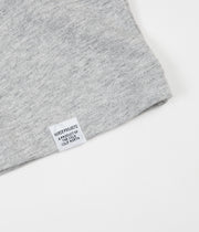 Norse Projects Niels Coordinates Logo T-Shirt - Light Grey Melange