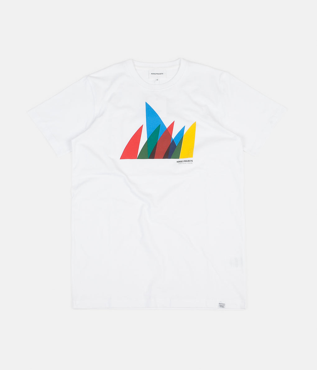 Norse Projects Niels Spinnaker Logo T-Shirt - White