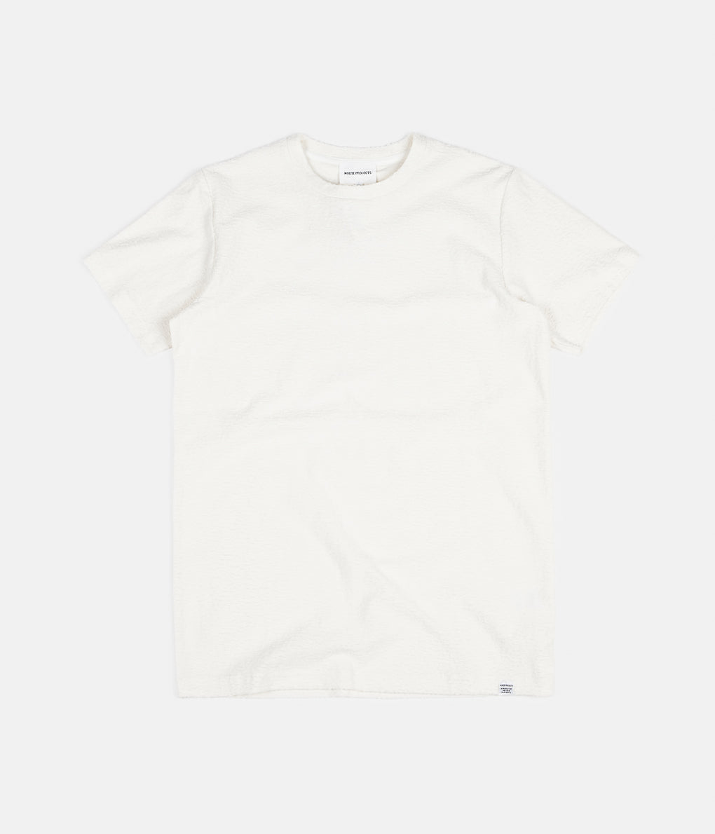 Norse Projects Niels Towelling Texture T-Shirt - Ecru