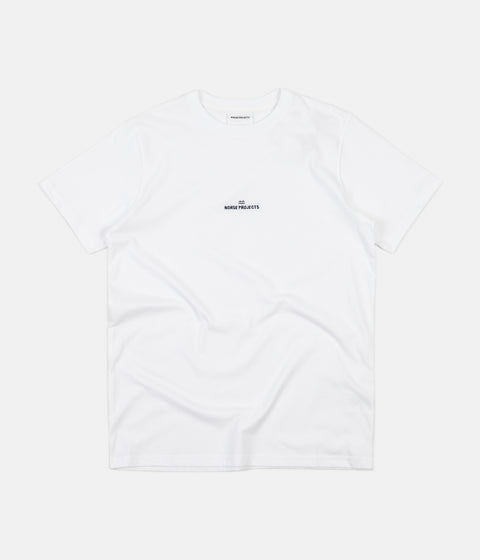 Norse Projects Niels Wave Logo T-Shirt - White