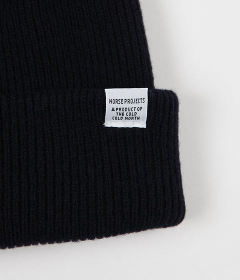 Norse Projects Norse Beanie - Dark Navy