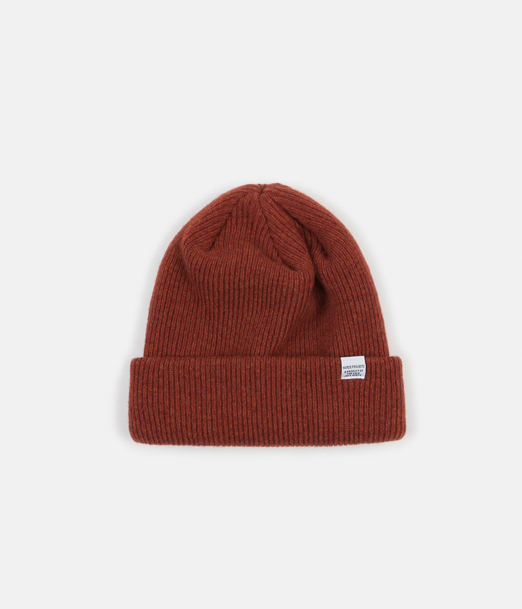 Norse Projects Norse Beanie - Signal Orange
