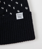 Norse Projects Norwegian Birdseye Beanie - Dark Navy