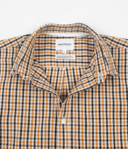 Norse Projects Osvald BD Gingham Short Sleeve Shirt - Sunwashed Yellow