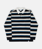 Norse Projects Ruben Compact Cotton Long Sleeve Polo Shirt - Himmel Blue