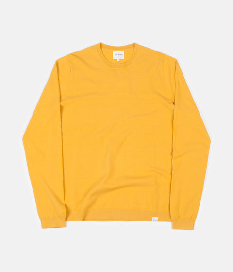 Norse Projects Sigfred Dry Cotton Knitted Sweatshirt - Sunrise Yellow