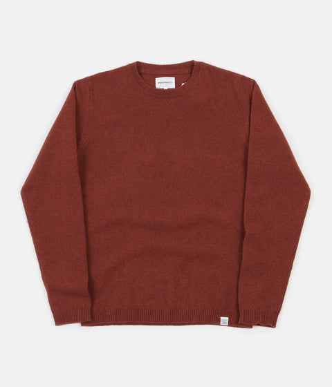 Norse Projects Sigfred Lambswool Knit Jumper - Carmin Red