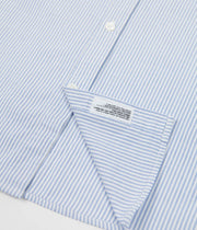 Norse Projects Theo Short Sleeve Oxford Shirt - Blue Stripe