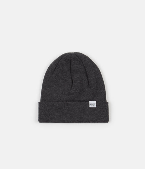 Norse Projects Top Beanie - Charcoal Melange