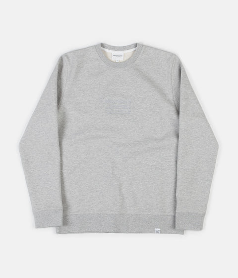 Norse Projects Vagn Logo Crewneck Sweatshirt - Light Grey Melange