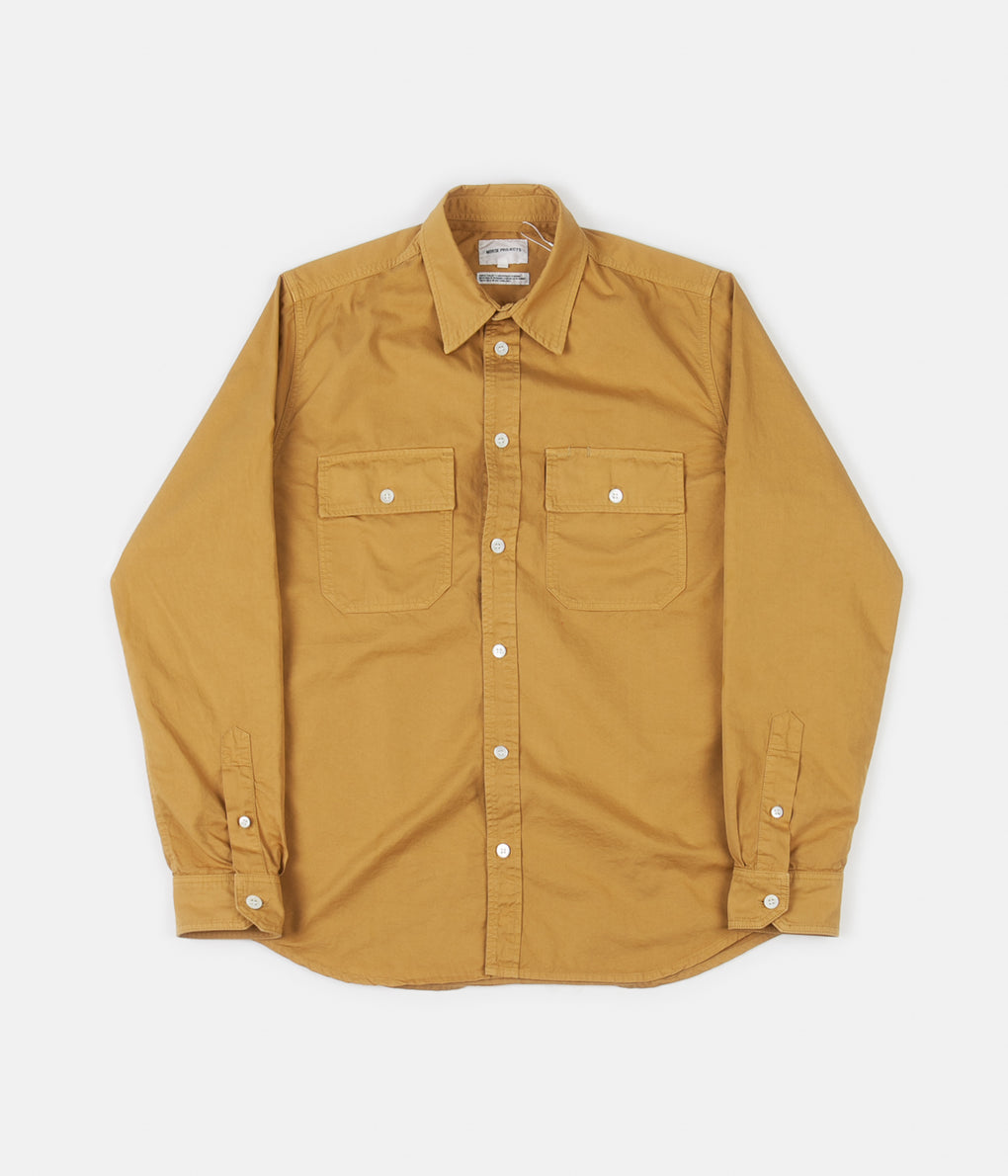 Norse Projects Villads Light Twill Shirt - Montpellier Yellow