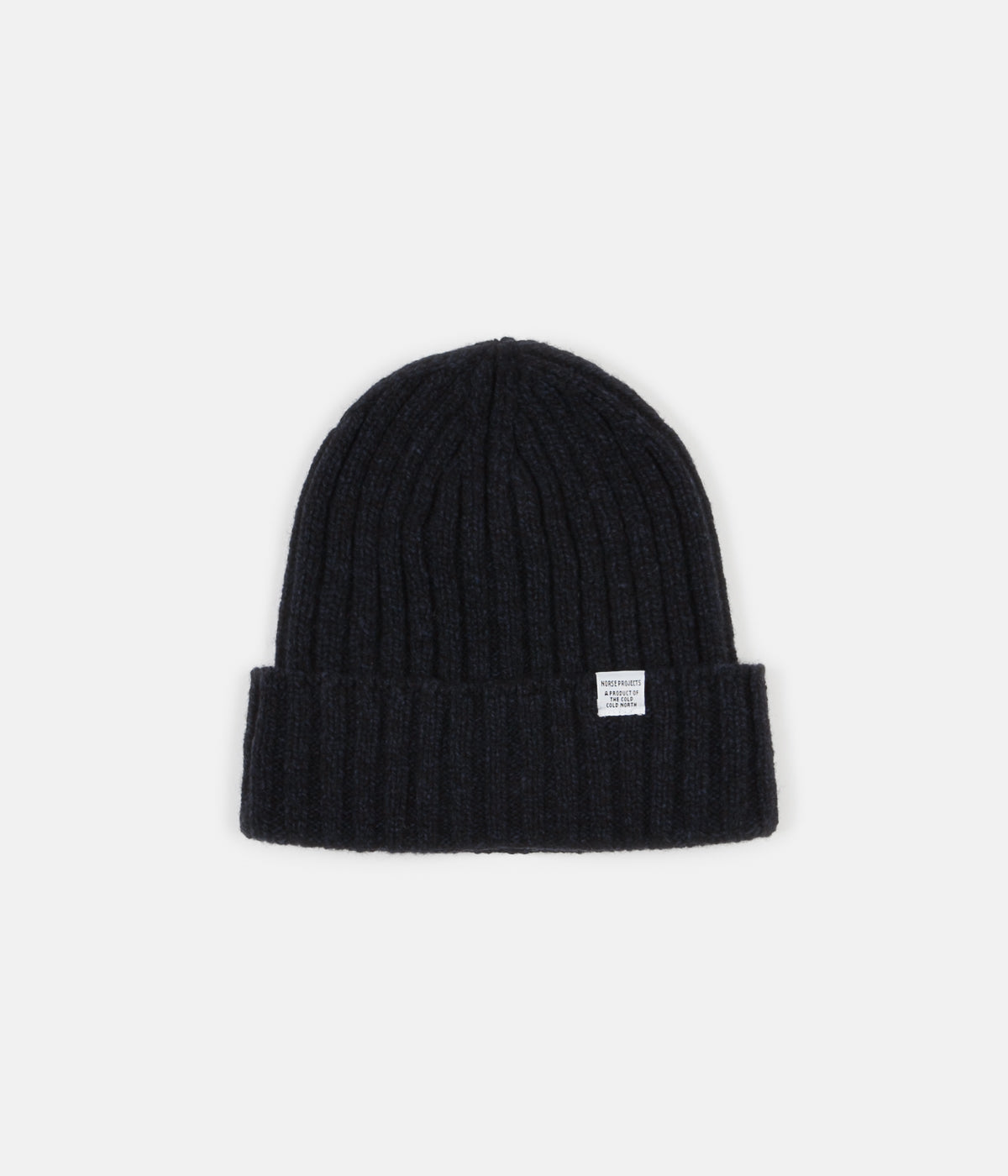 2c28482ae83 Norse Projects Wide Rib Beanie - Dark Navy