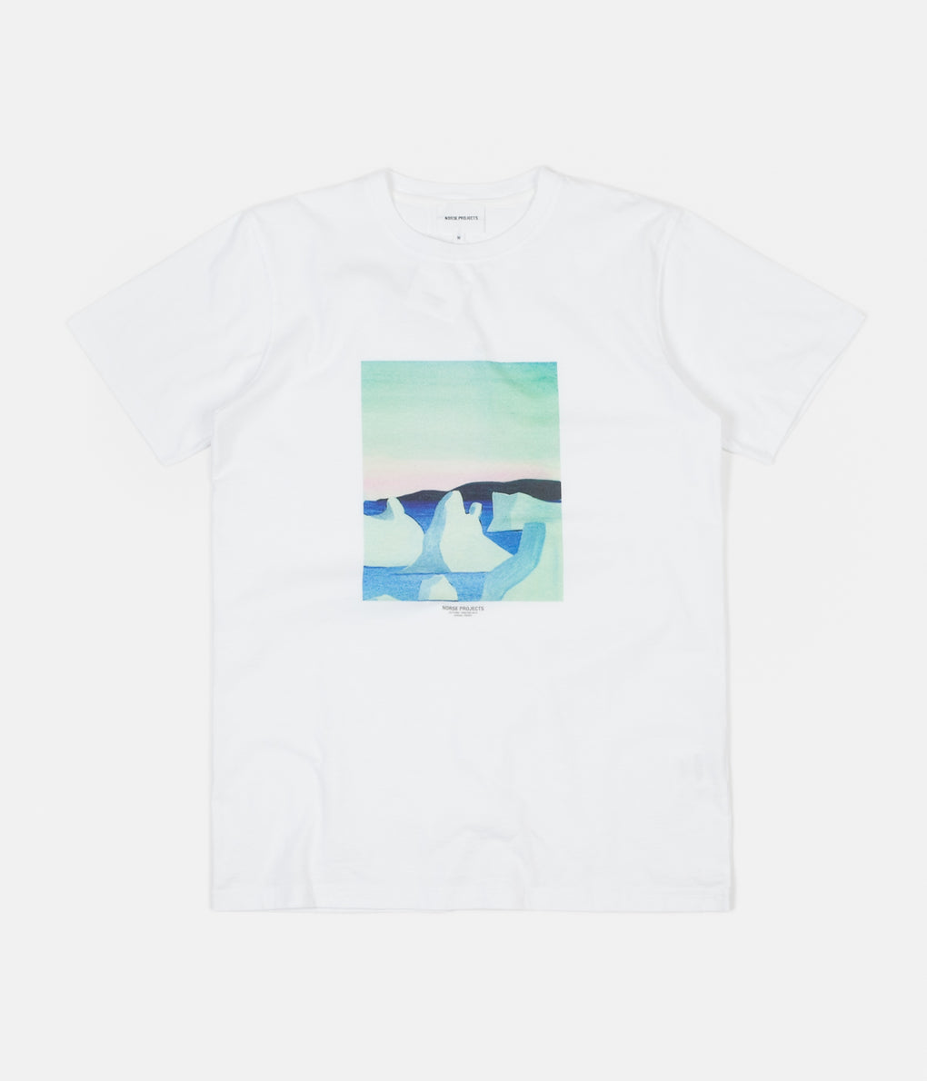 Norse Projects x Daniel Frost Icebergs T-Shirt - White