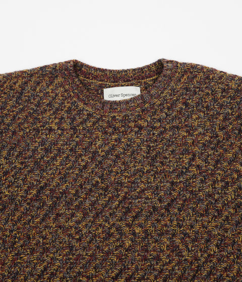 Oliver Spencer Bleinheim Crewneck Sweatshirt - Hereford Multi