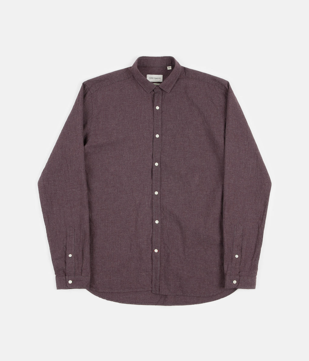 Oliver Spencer Clerkenwell Tab Shirt - Pippen Red