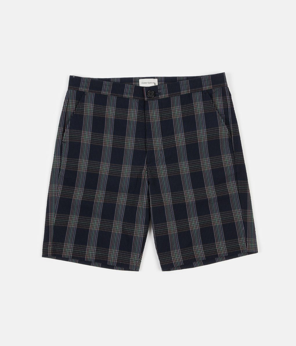 Oliver Spencer Drawstring Shorts - Ainsworth Navy
